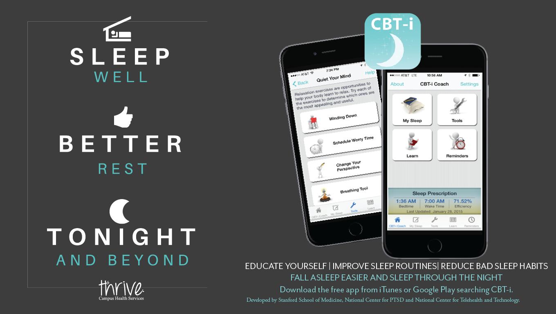 CBT-i App helps students sleep better