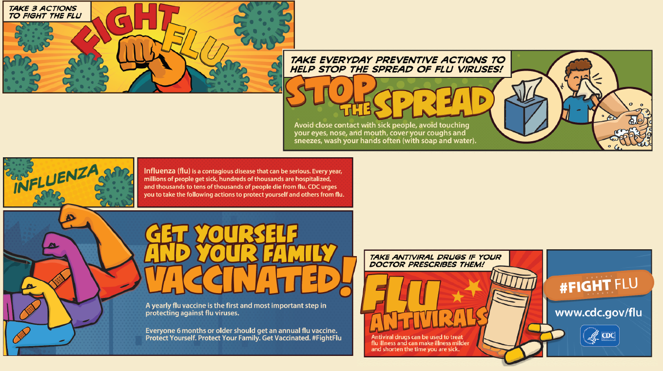 Fight the Flu, Stop the Spread, Get Yourself and Your Family Vaccinated.