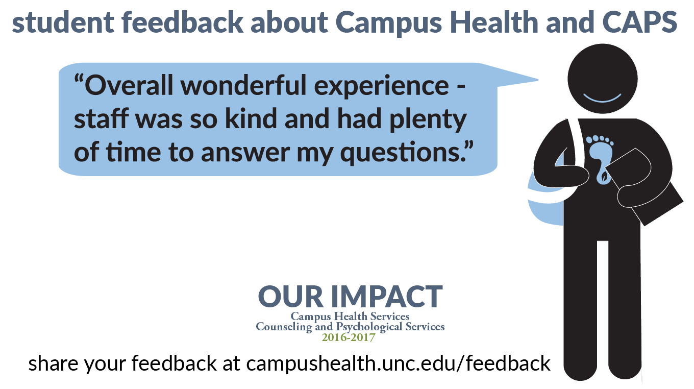 """Student feedback: """"Overall wonderful experience - staff was so kind and had plenty of time to answer my questions."""""""
