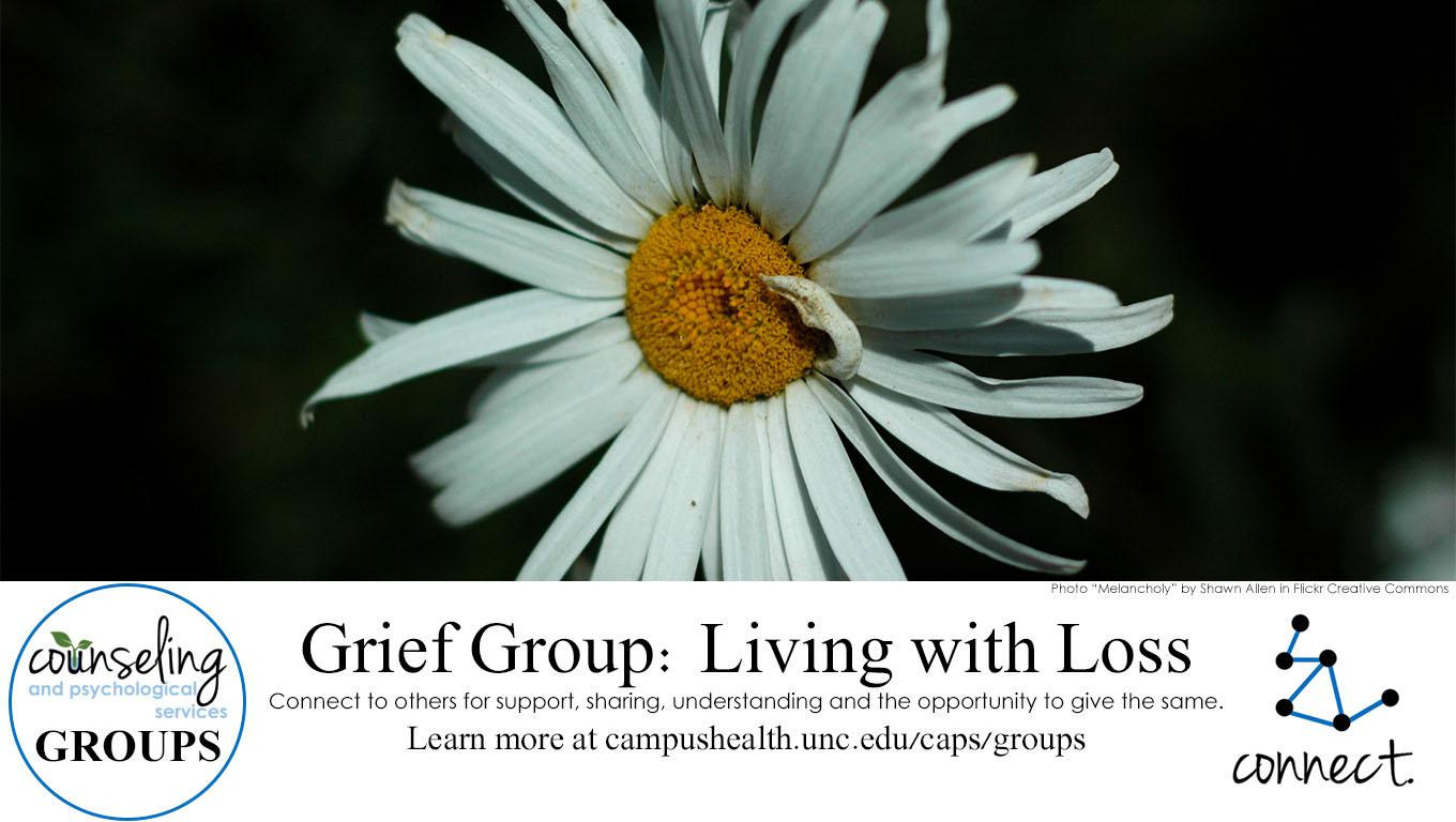 Grief group, forget me not image