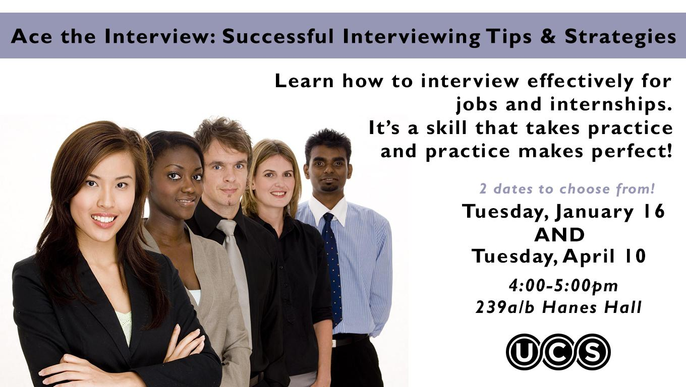 Ace the Interview- Successful Interviewing Tips & Strategies