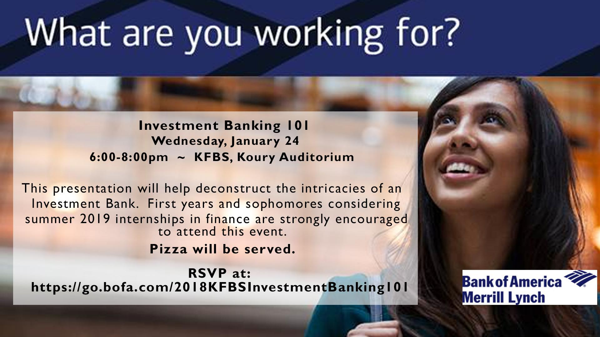 Bank of America Info Session
