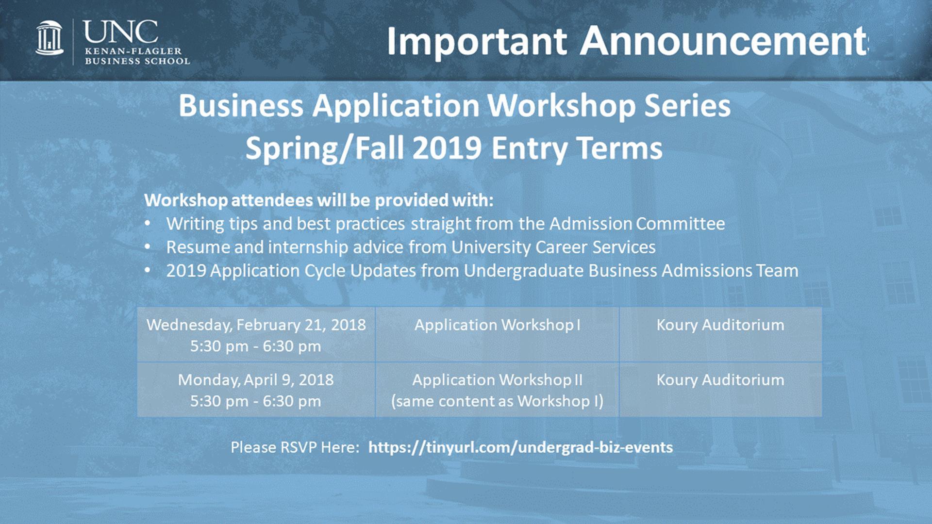 Business Application Workshop Series