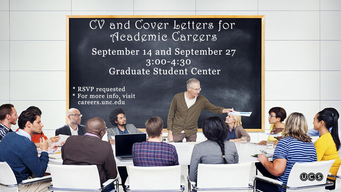 CV and Cover Letters for Academic Careers