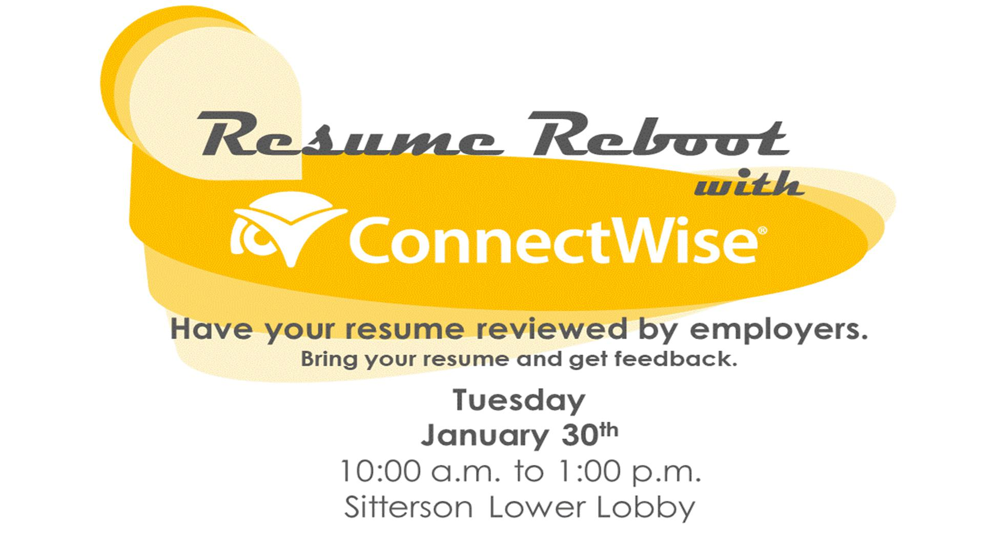 Resume Reboot with ConnectWise