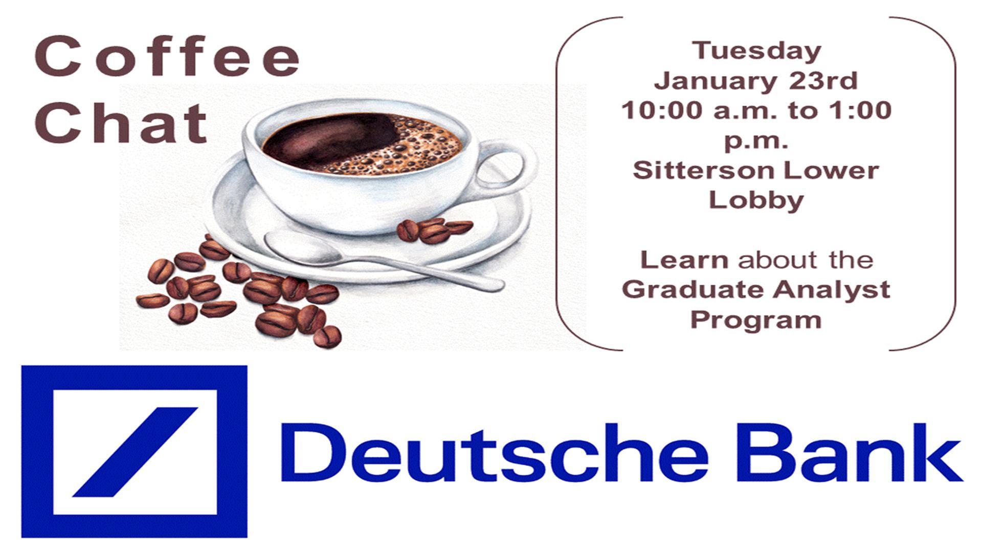 Deutsche Bank Coffee Chat