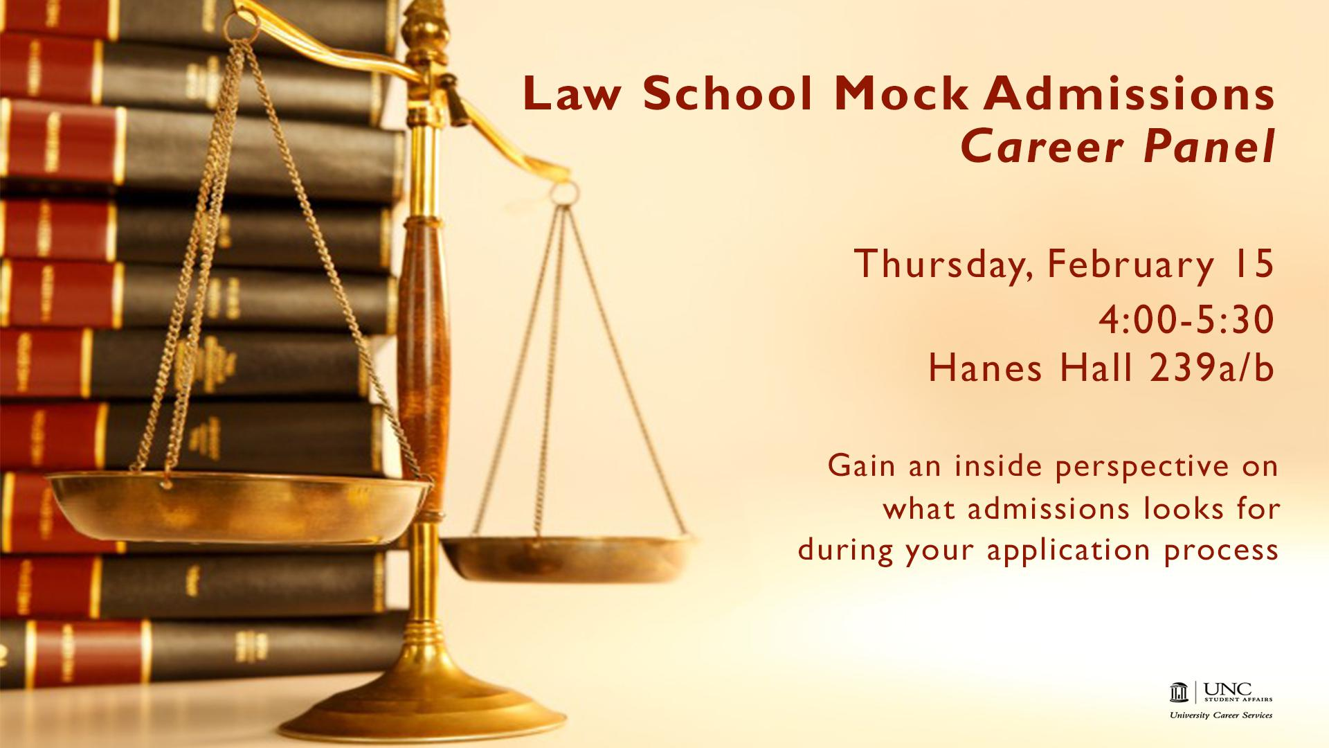 Law School Mock Admissions Panel