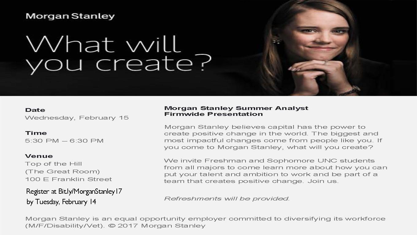 Morgan Stanley | Digital Signage - Student Affairs
