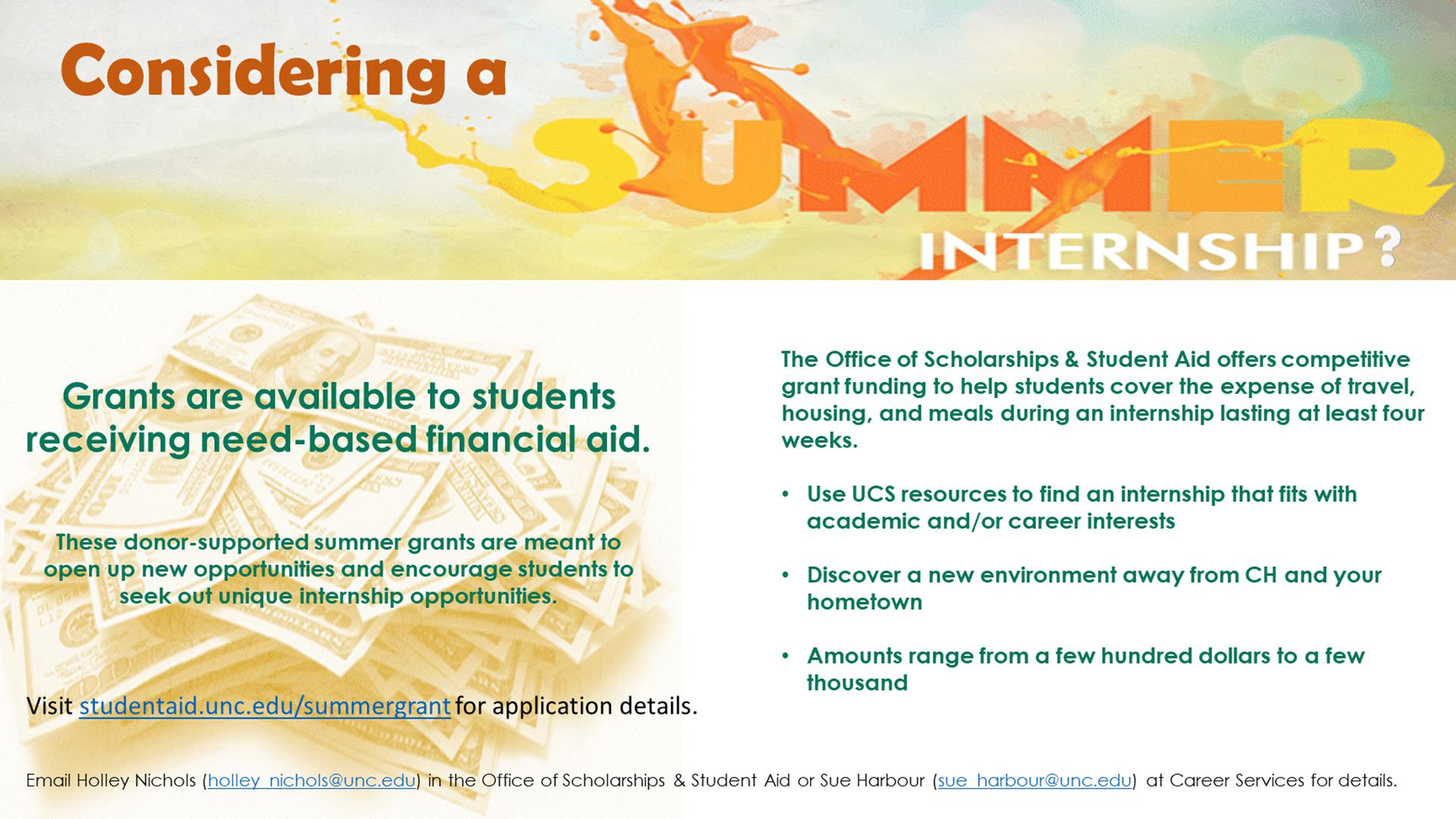 Summer Internship Grant
