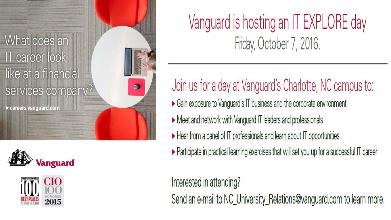 Vanguard IT Explore Day   Digital Signage - Student Affairs
