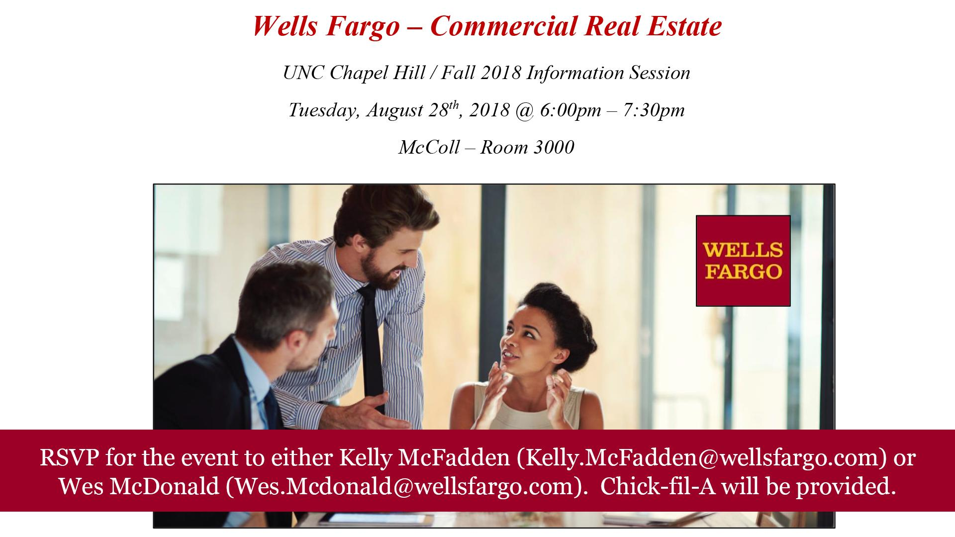 Wells Fargo Information Session | Digital Signage - Student