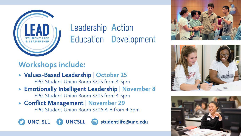 Student Life & Leadership LEAD Workshops
