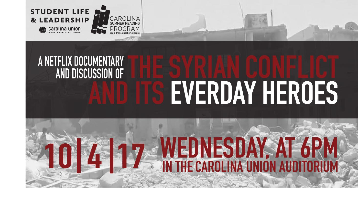 SLL Syrian Conflict Documentary & Discussion
