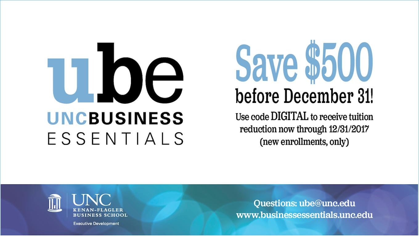 UNC Business Essentials: Tuition Savings