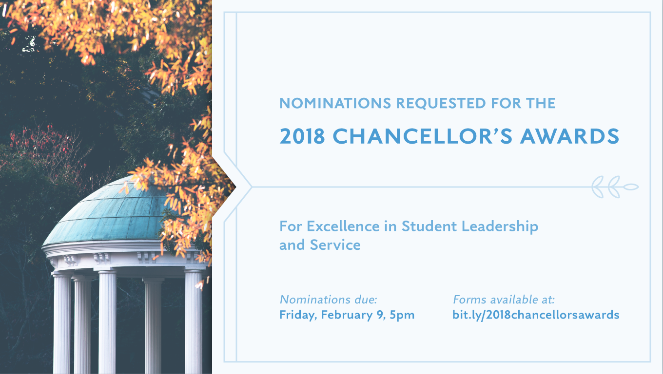 Chancellor's Awards 2018: Call for Nominations